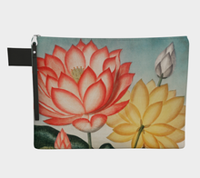 Load image into Gallery viewer, Red and Yellow Lotus Flower Zipper Carry-all Pouch - Kahlil Gibran