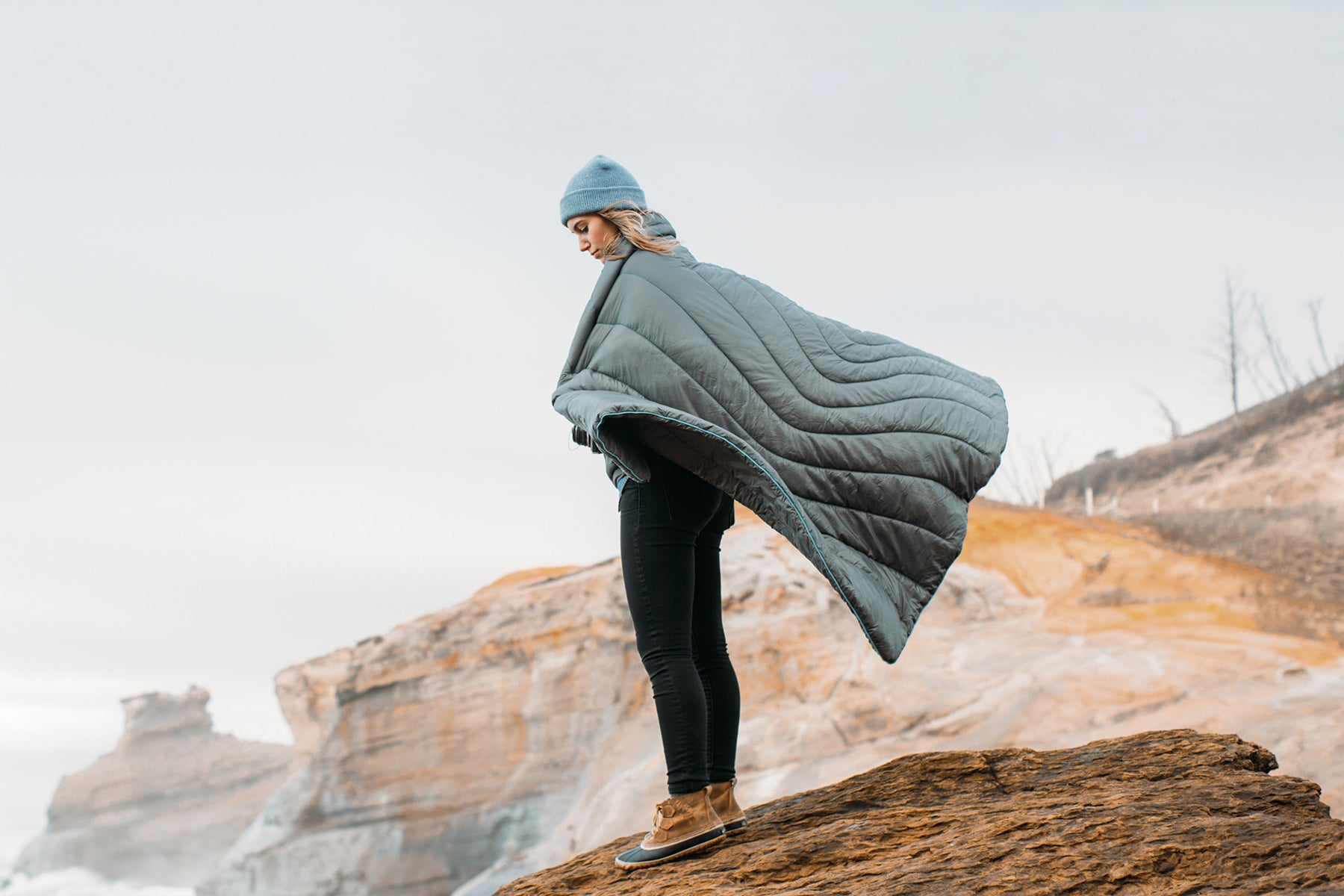 The Rumpl Original Puffy Blanket, Indoor Comfort with Outdoor Performance