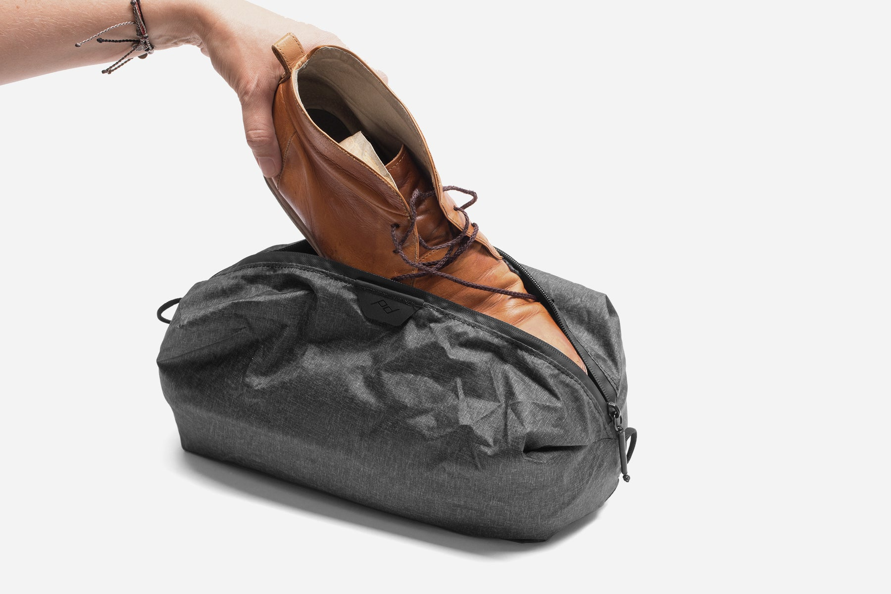 The Peak Design Shoe Pouch, Ultralight and Ultra-Packable for Travel