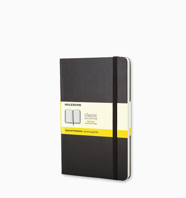 Moleskine Pocket Classic Squared Hardcover Notebook