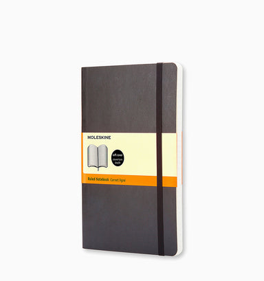 Moleskine Large Classic Ruled Softcover Notebook - Black Ruled