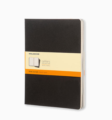 Moleskine Cahier Journal (3 Pack) - XL - Ruled - Black Ruled