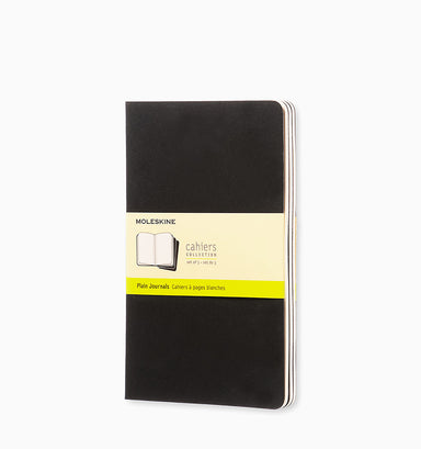 Moleskine Cahier Journal (3 Pack) - Large - Plain - Black