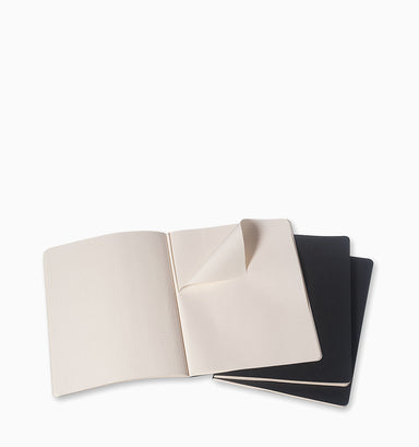 Moleskine Cahier Journal (3 Pack) - XL - Squared - Black Squared