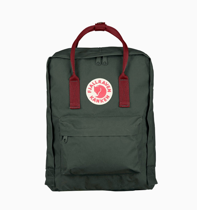 Fjallraven Kanken Classic Backpack - Forest Green Ox Red
