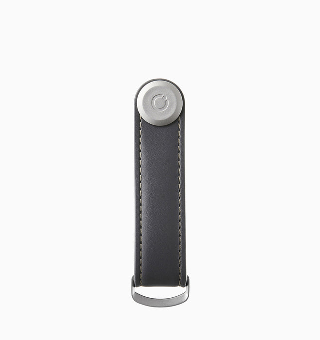 Orbitkey Leather 2.0 Key Organiser - Charcoal Grey