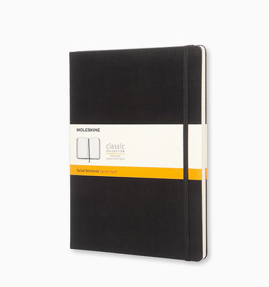 Moleskine Extra Large Classic Ruled Hardcover Notebook - Black