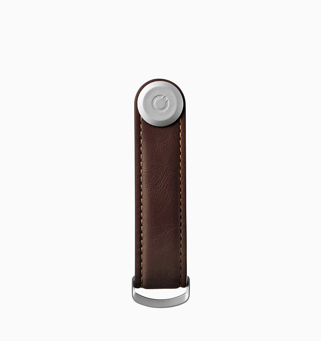 Orbitkey Leather 2.0 Key Organiser - Espresso Brown