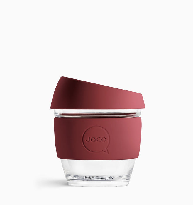 Joco 236ml (8oz) Reusable Coffee Cup - Ruby Wine