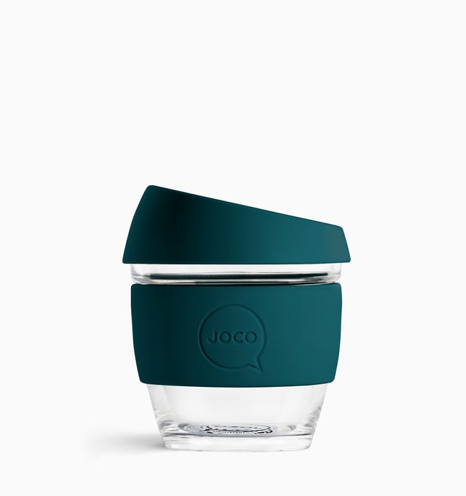 Joco 236ml (8oz) Reusable Coffee Cup - Deep Teal