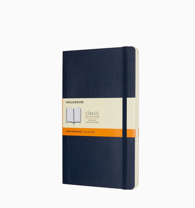 Moleskine Large Classic Ruled Softcover Notebook - Sapphire Blue Ruled