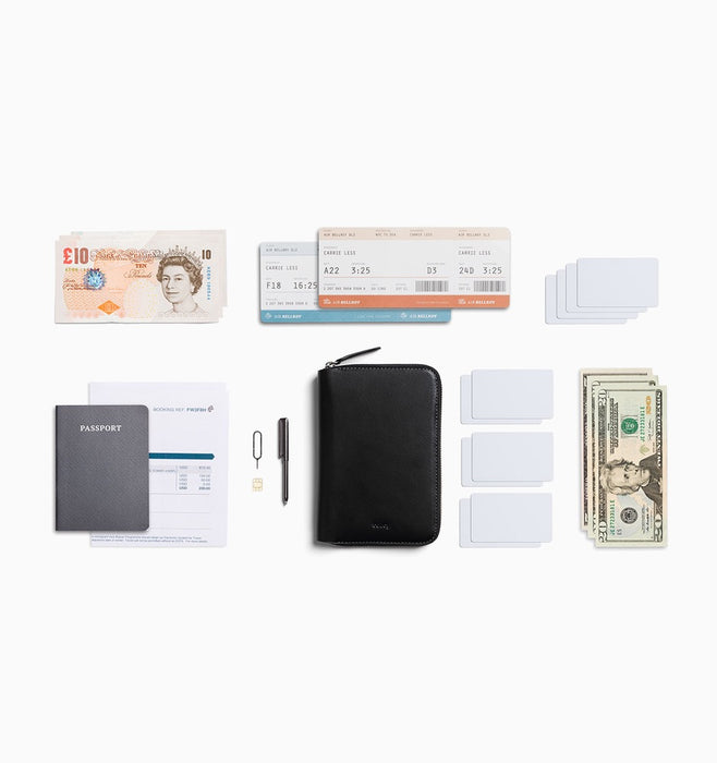 Bellroy Travel Folio Passport Wallet - Black