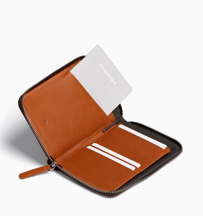 Bellroy Travel Folio Passport Wallet - Caramel