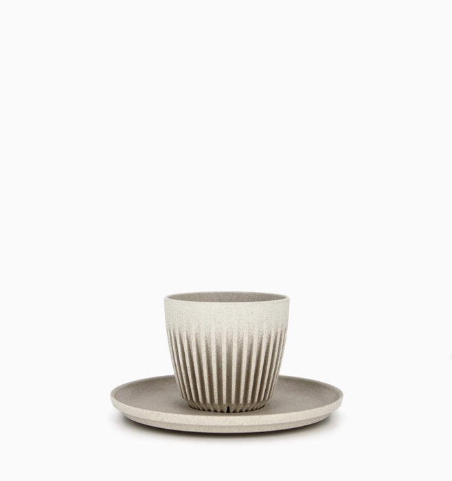 Huskee Cup Universal Saucer 4 Pack - Natural