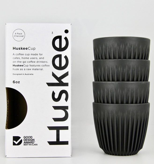 Huskee Cup HuskeeCup 177ml (6oz) Reusable Coffee Cup 4 Pack