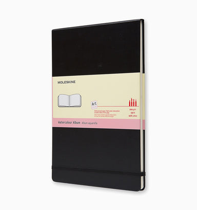 Moleskine A4 Hard Cover Art Watercolour Album - Plain - Black