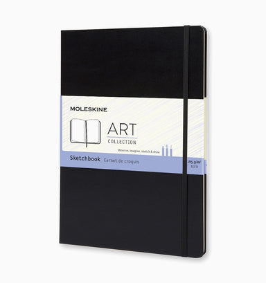 Moleskine A4 Hard Cover Art Sketchbook - Plain - Black