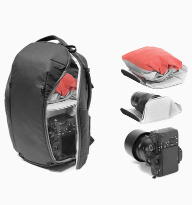 "Peak Design Everyday 13"" Laptop DSLR Backpack Zip 15L V2 - Black"