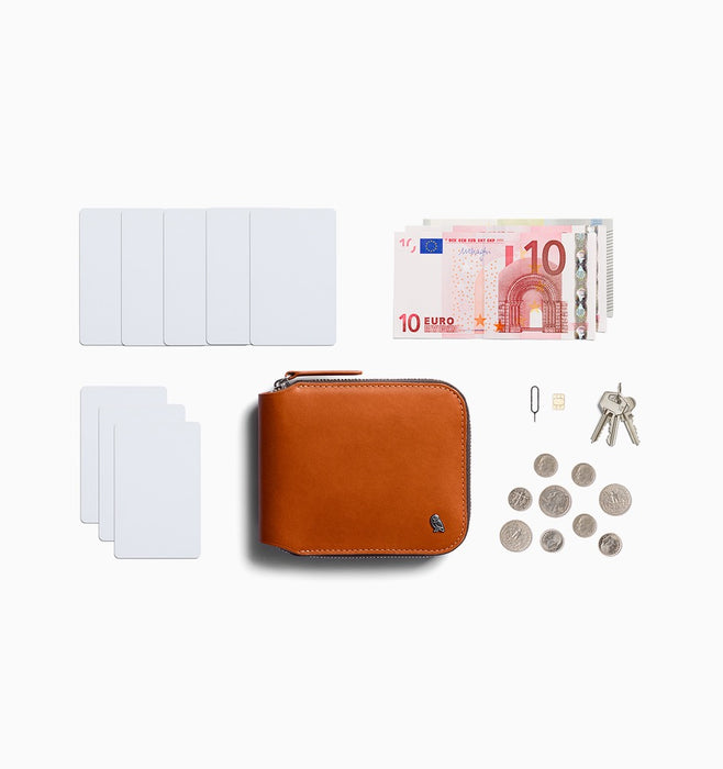 Bellroy Zip Wallet - Caramel