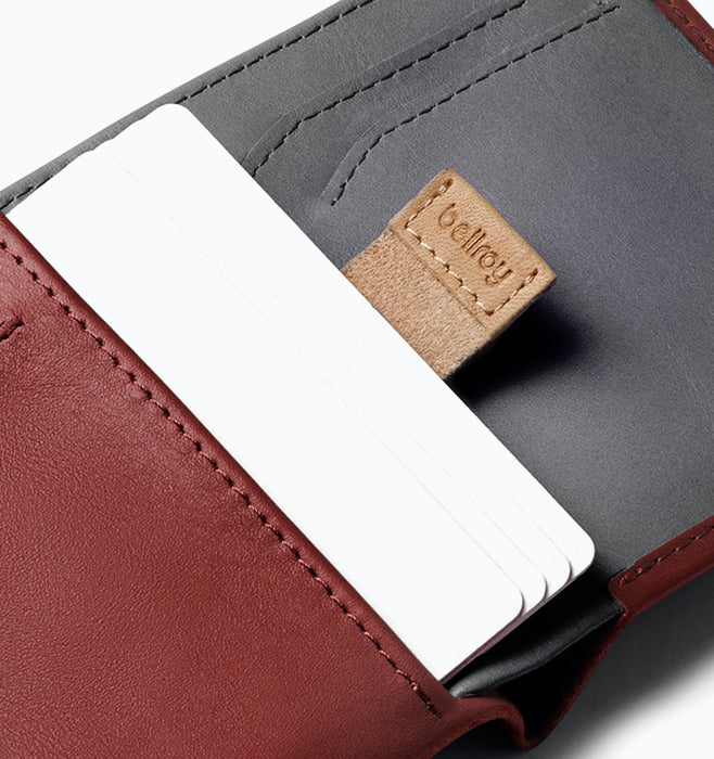 Bellroy RFID Note Sleeve - Red Earth