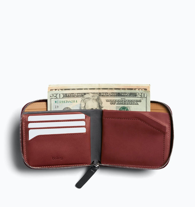 Bellroy Zip Wallet - Red Earth