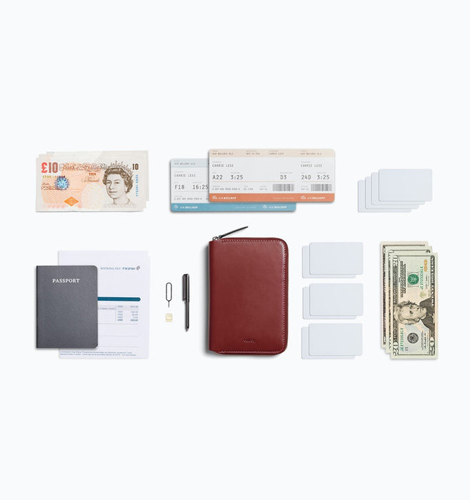 Bellroy Travel Folio Passport Wallet - Red Earth