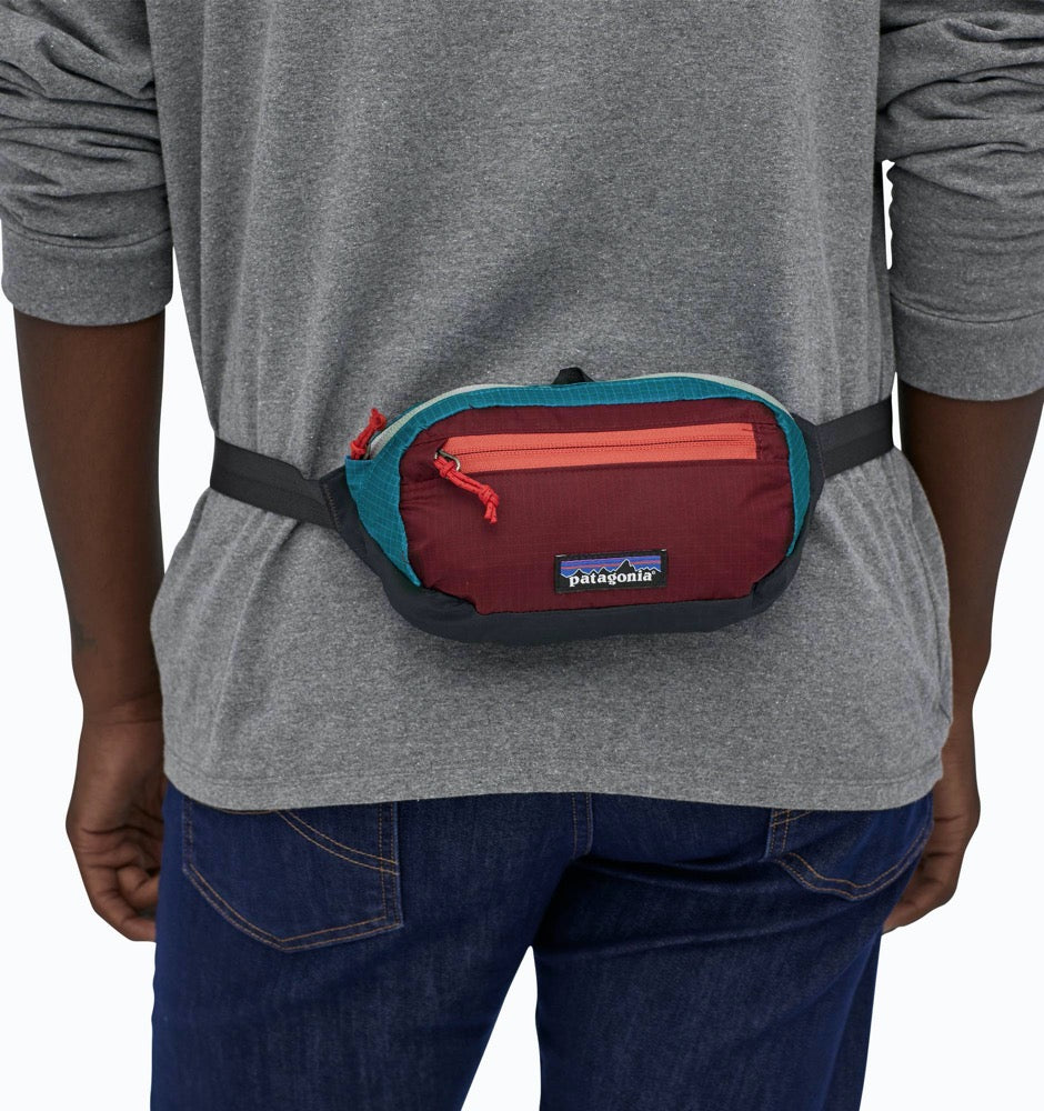 Patagonia Ultralight Black Hole Mini Hip Pack - Patchwork Roamer Red