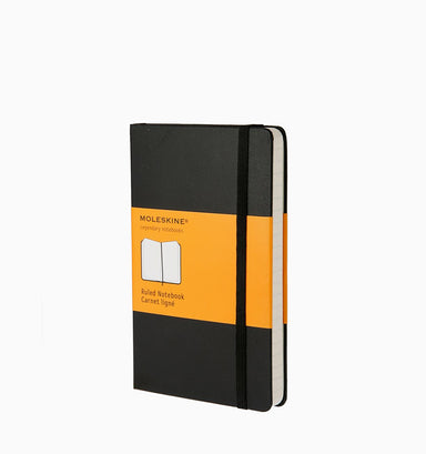 Moleskine Pocket Classic Ruled Hardcover Notebook - Black