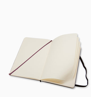 Moleskine Large Classic Plain Hardcover Notebook - Black