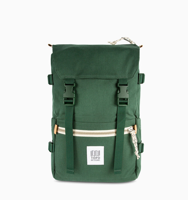 Topo Designs Rover Pack Laptop Backpack - Forest Canvas