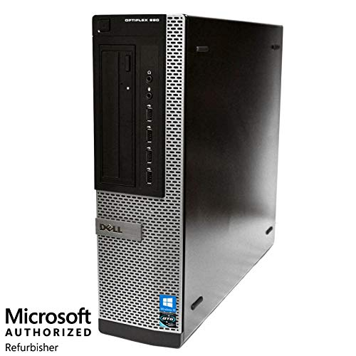 Dell OptiPlex 790 Desktop Computer Package - Quad Core i5 3.1-GHz, 4GB RAM, 250GB HDD, DVD, 22 Inch LCD, Keyboard, Mouse, WiFi, Bluetooth, Windows 10 (Renewed)