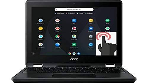 "Acer Spin 11 2-in-1 Convertible 11.6"" HD Touchscreen WLED-Backlit Chromebook, Intel Celeron N3350 Processor, 4GB Memory, 32GB eMMC, Bluetooth, WiFi, Webcam, Google Chrome OS, Obsidian Black"