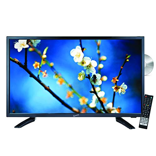 "SuperSonic SC-2212 LED Widescreen HDTV & Monitor 22"", Built-in DVD Player with HDMI, USB, SD & AC/DC Input: DVD/CD/CDR High Resolution and Digital Noise Reduction"