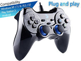 ZD-V+ USB Wired Gaming Controller Gamepad for PC/Laptop Computer(Windows XP/7/8/10) & PS3 & Android & Steam - [Black]
