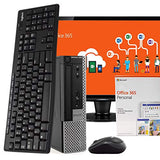 "Dell OptiPlex 7010 PC Desktop Computer, Intel i5, 8GB RAM 500GB HDD, Windows 10 Pro, Microsoft Office 365 Personal, 24"" LCD Monitor, New 16GB Flash Drive, Wireless Keyboard & Mouse, WiFi (Renewed)"