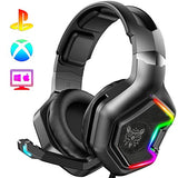 ONIKUMA PS4 Headset -Xbox One Headset Gaming Headset with 7.1 Surround Sound Pro Noise Canceling Gaming Headphones with Mic & RGB LED Light Compatible with PS4, Xbox One, Nintendo Switch, PC,GameCube