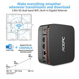 ACEPC AK1 Mini PC, Windows 10 Pro(64-bit) Intel Celeron Apollo Lake J3455 Processor(up to 2.3GHz) Desktop Computer,4GB DDR3/64GB eMMC,2.4G+5G Dual WiFi,Gigabit Ethernet,BT 4.2,4K