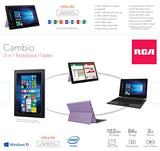 "RCA 10 & 12.2 inch Cambio Windows 10 Tablet with Keyboard (12.2"", Purple)"