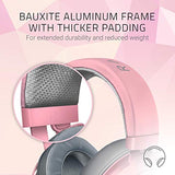 Razer Kraken Gaming Headset: Lightweight Aluminum Frame - Retractable Noise Isolating Microphone - For PC, PS4, Nintendo Switch - 3.5 mm Headphone Jack - Quartz Pink