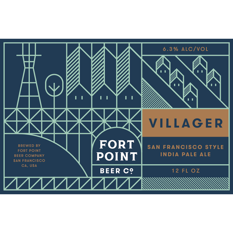 Fort Point  Villager IPA 6pk cans (12oz)