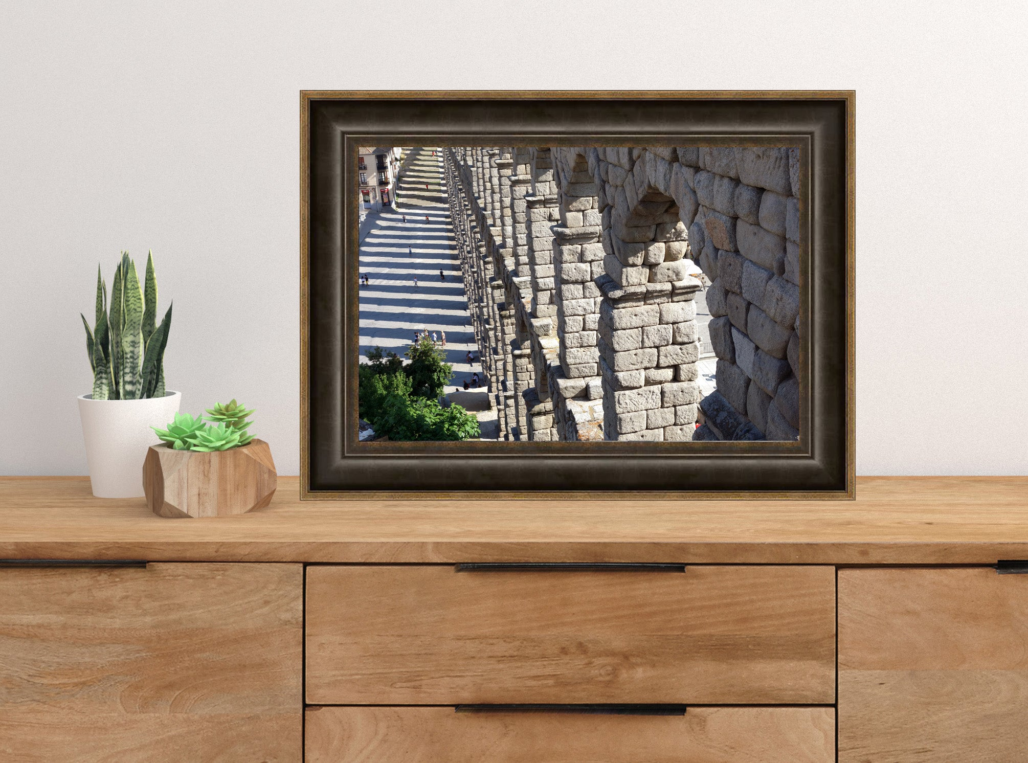 A different view of the Segovia Spain Roman aqueduct downloadable photograph art, you print