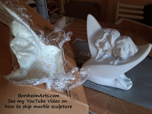 how to correctly package and ship marble sculpture by Kelly Borsheim