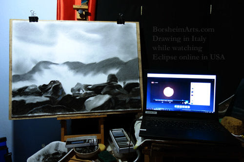 Drawing Splash while watching an eclipse live on the Internet