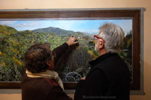 Local residents really enjoy the reality of the mural of the Medieval village Sorana.