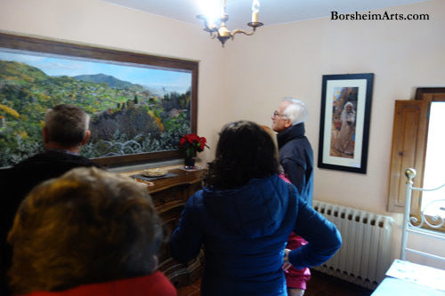 Open House to show off the Mural to locals in Valleriana Castelvecchio and Sorana Tuscany Italy