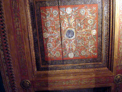 beautifully painted wood ceiling Bardini Museum Florence Italy
