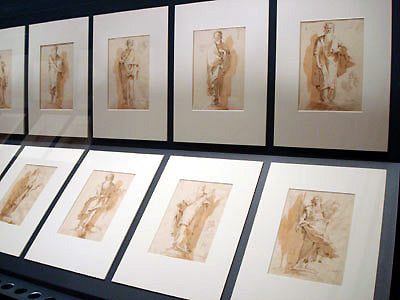 well-displayed drawing by Tiepolo in sanguine Bardini Museum Florence Italy