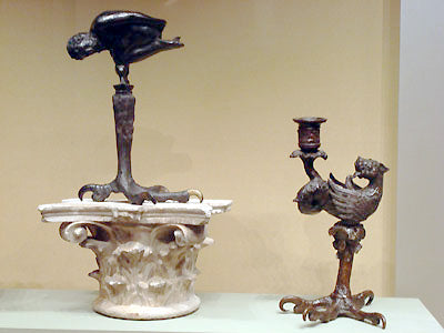 strange and marvelous mixed human and animal forms in functional bronze sculpture