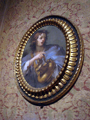 Portrait of a woman in oval frame Bardini Museum Florence Italy