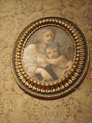 Madonna and Child portraits in round frame Bardini Museum Florence Italy